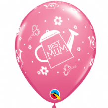 Best Mum Watering Can (Rose) 6pcs - 11 Inch Balloons